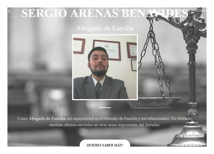 Sergio Arenas Benavides Abogado de Familia Linares Chile nuevo diseño web