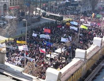 Protesta en Chile Elites Oligarquía Pueblo Masa