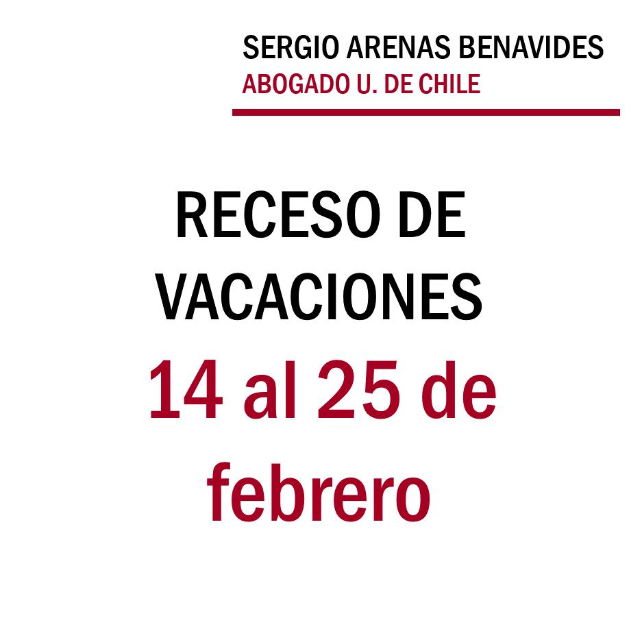 Receso vacaciones 14 al 25 febrero